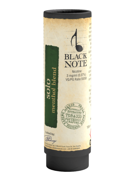 5e797134e43 Menthol E-Juice - Solo: A Mint Tobacco Blend | Black Note